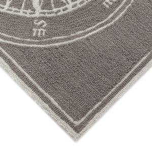Liora Manne Frontporch 1447/47 Compass Grey Area Rug by Trans Ocean