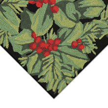 Liora Manne Frontporch 2419/48 Hollyberries Black Area Rug by Trans Ocean
