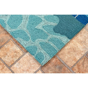 Liora Manne Frontporch 4450/03 Poolside Water Area Rug by Trans Ocean