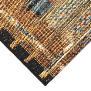 Liora Manne Marina 8057/09 Tribal Stripe Gold Area Rug by Trans Ocean