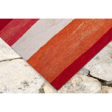 Liora Manne Visions II 4313/24 Painted Stripes Warm Area Rug by Trans Ocean