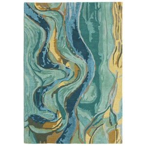 Liora Manne Corsica 9149/03 Panorama Blue/Green Area Rug by Trans Ocean