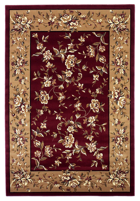 KAS Cambridge 7337 Red/Beige  Area Rugs