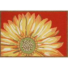Liora Manne Frontporch 1417/24 Sunflower Red Area Rug by Trans Ocean