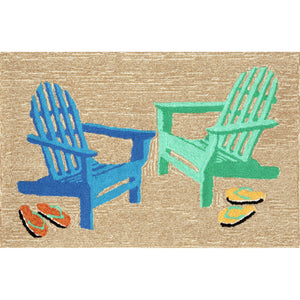 Liora Manne Frontporch 1466/04 Adirondack Seaside Area Rug by Trans Ocean