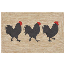 Liora Manne Frontporch 1870/12 Roosters Neutral Area Rug by Trans Ocean