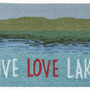 Liora Manne Frontporch 4507/03 Live Love Lake Water Area Rug by Trans Ocean