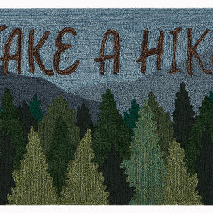 Liora Manne Frontporch 4513/16 Take A Hike Forest Area Rug by Trans Ocean