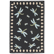 Liora Manne Frontporch 2048/47 Dragonfly Midnight Area Rug by Trans Ocean