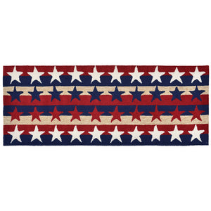 Liora Manne Frontporch 1804/14 Stars & Stripes Americ Area Rug by Trans Ocean