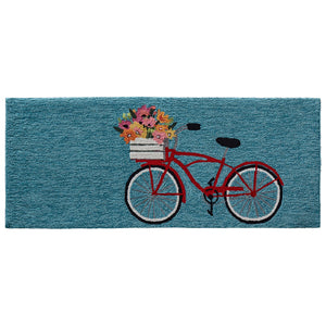 Liora Manne Frontporch 4434/03 Bike Ride Blue Area Rug by Trans Ocean
