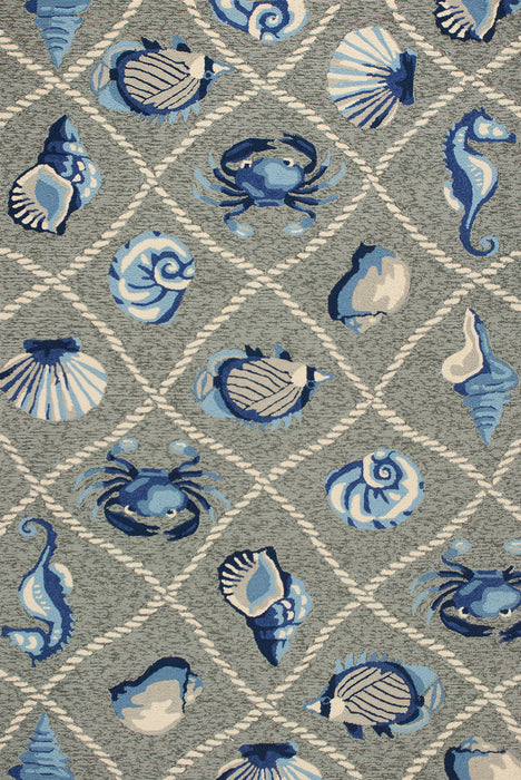 KAS Harbor 4219 Grey Area Rugs