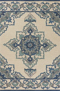 KAS Harbor 4238 Ivory/Blue Area Rugs