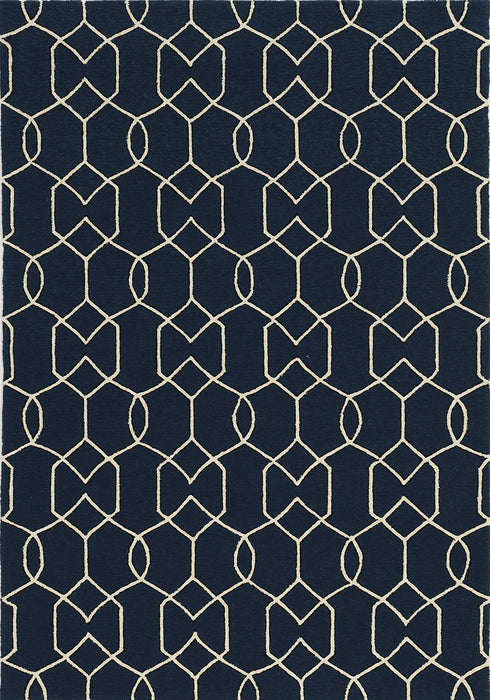 KAS Libby Langdon Hamptons 5230 Navy Area Rugs