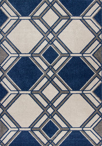 KAS Lucia 2768 Ivory/Denim Area Rugs