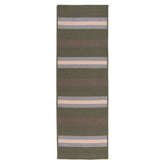 Colonial Mills Elmdale Runner  MD49 Olive  Area Rug
