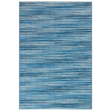 Liora Manne Marina 8052/03 Stripes China Blue Area Rug by Trans Ocean