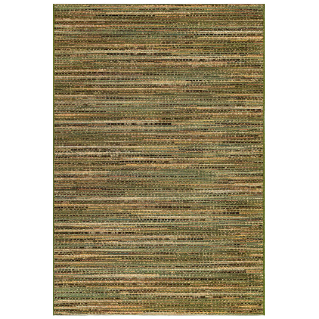 Liora Manne Marina 8052/06 Stripes Green Area Rug by Trans Ocean