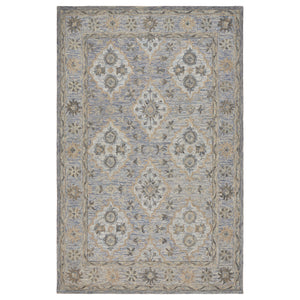 LR Home Modern Tradition MODTR81285 Blue Suzani Oriental Area Rug