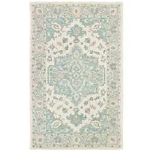 LR Home Modern Tradition MODTR81288 Turquoise Medallion Area Rug