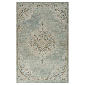 LR Home Modern Tradition MODTR81291 Lagoon Medallion Area Rug