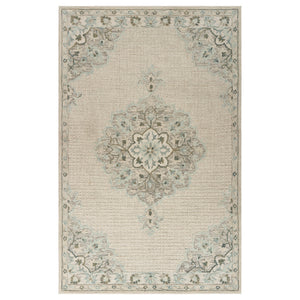 LR Home Modern Tradition MODTR81292 Ivory Medallion Area Rug