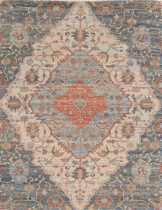KAS Morris 2223 Blue/Red Area Rugs