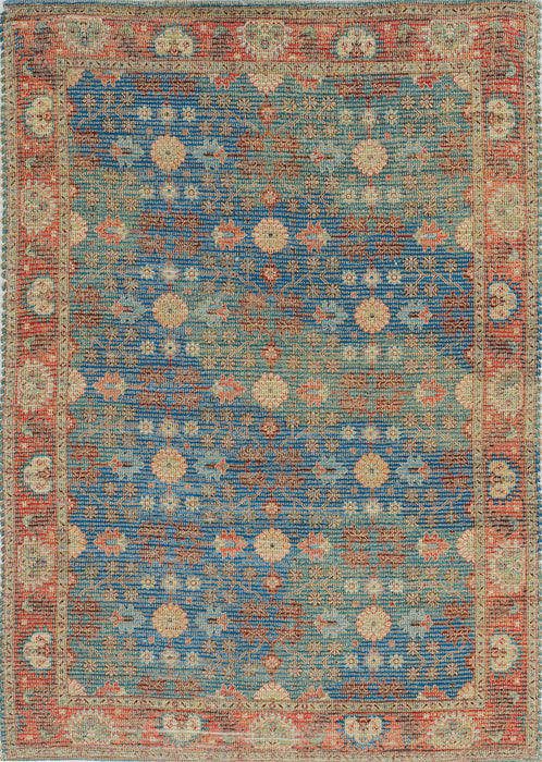 KAS Morris 2227 Blue/Red Area Rugs