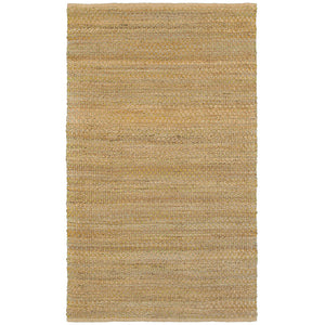 LR Home Natural Fiber NATUR03301 Classic Natural Green Jute Area Rug