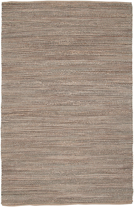 LR Home Natural Fiber NATUR03302 Traditional Natural Brown Jute Area Rug