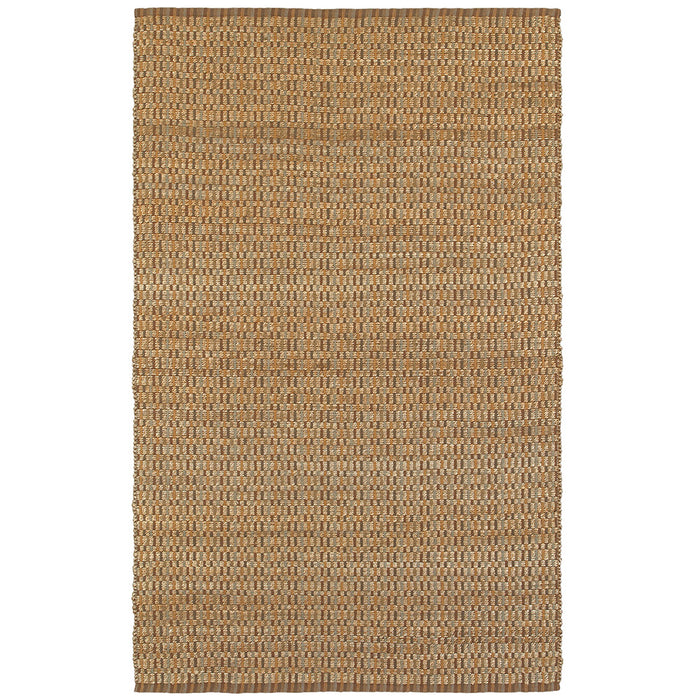 LR Home Natural Fiber NATUR03306 Interwoven Natural Deep Jute Area Rug