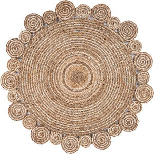 LR Home Natural Jute NATUR12040NAT Area Rug