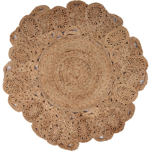 LR Home Natural Jute NATUR12045NAT Area Rug