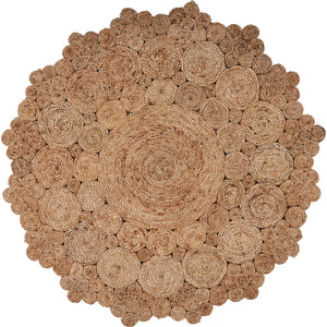 LR Home Natural Jute NATUR12046NAT Area Rug
