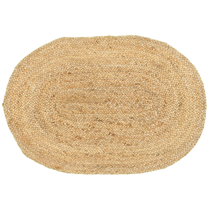 LR Home Natural Jute NATUR50135 Classic Simple Natural Jute Area Rug
