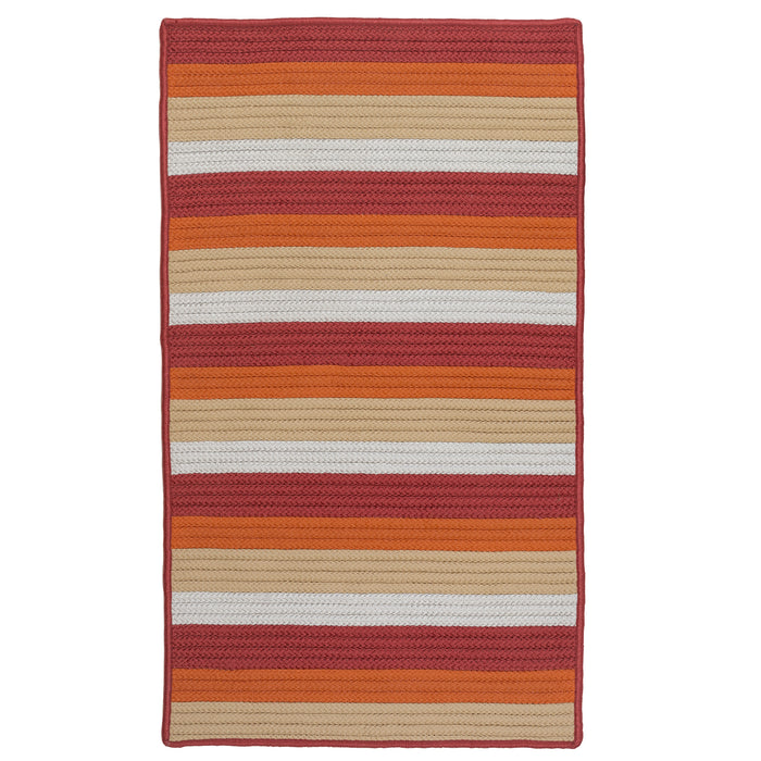 Colonial Mills Norwood  NW05 Orange Red  Area Rug