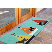 Liora Manne Frontporch 1402/03 Sailing Dogs Blue Area Rug by Trans Ocean