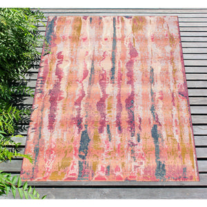 Liora Manne Marina 8048/37 Reflection Blush Area Rug by Trans Ocean