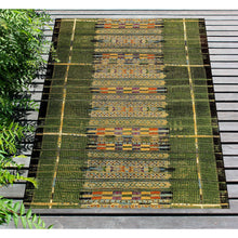 Liora Manne Marina 8057/06 Tribal Stripe Green Area Rug by Trans Ocean