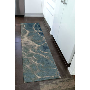 Liora Manne Corsica 9146/03 Water Blue Area Rug by Trans Ocean