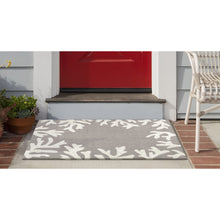 Liora Manne Capri 1620/47 Coral Border Silver Area Rug by Trans Ocean