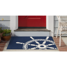 Liora Manne Frontporch 1456/33 Ship Wheel Navy Area Rug by Trans Ocean