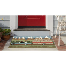 Liora Manne Frontporch 1469/06 Camping Dog Green Area Rug by Trans Ocean