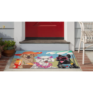 Liora Manne Frontporch 1808/44 Sassy Lassies Bright Area Rug by Trans Ocean