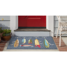 Liora Manne Frontporch 2420/47 Playing Hooky Grey Area Rug by Trans Ocean