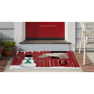 Liora Manne Frontporch 4287/24 Farm To Table Red Area Rug by Trans Ocean