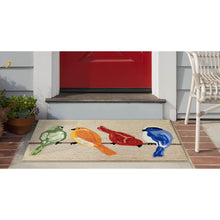 Liora Manne Frontporch 4457/12 Birds Neutral Area Rug by Trans Ocean
