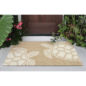 Liora Manne Capri 1634/12 Turtle Neutral Area Rug by Trans Ocean