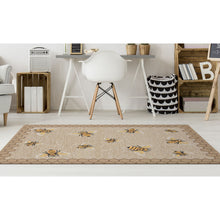 Liora Manne Frontporch 2432/12 Honeycomb Bee Natural Area Rug by Trans Ocean