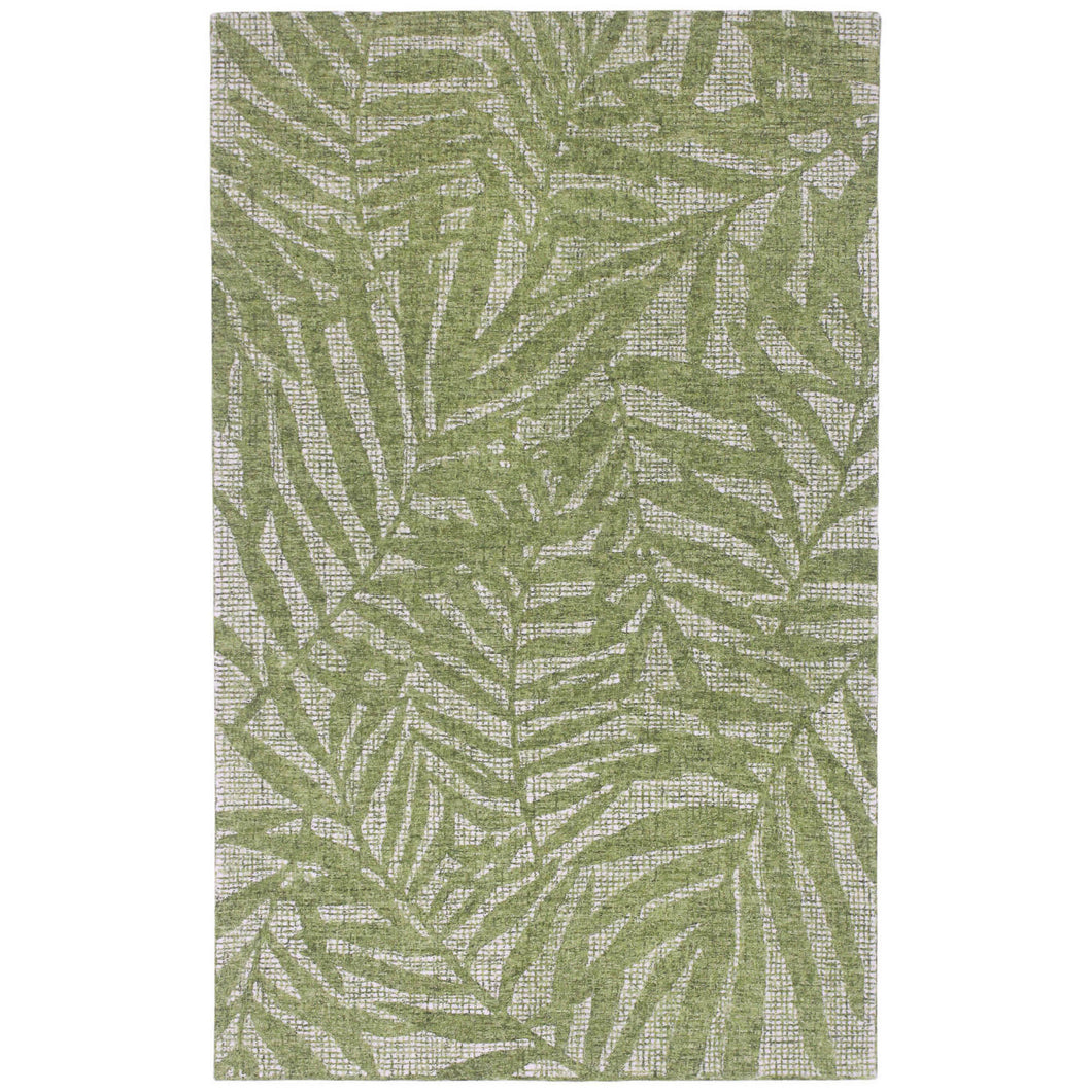 Liora Manne Savannah 9500/06 Olive Branches Green Area Rug by Trans Ocean
